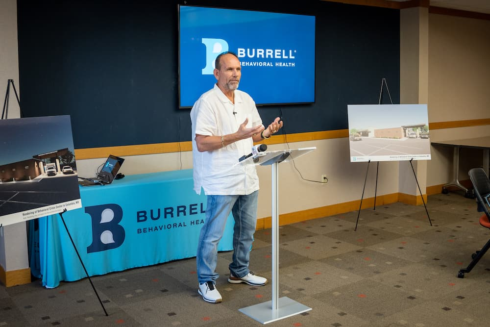 Greg DeLine Speaks at New Burrell Facility Announcement